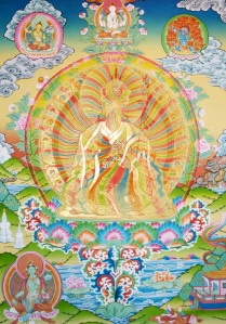 This is one of many depictions of the Rainbow Body from Tibet