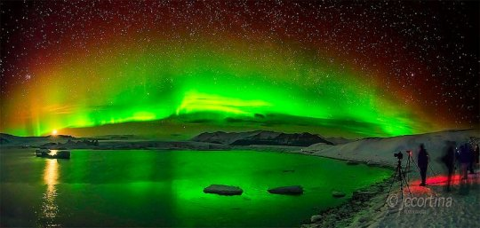 Aurora Borealis in green by Juan Carlos Cortina